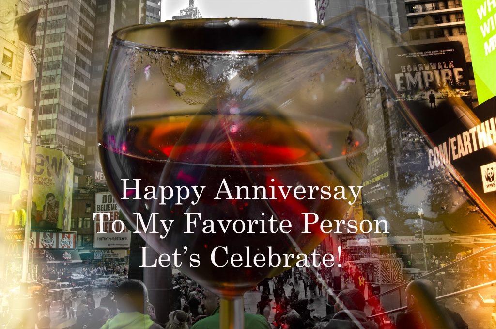 wine anniversary ecard