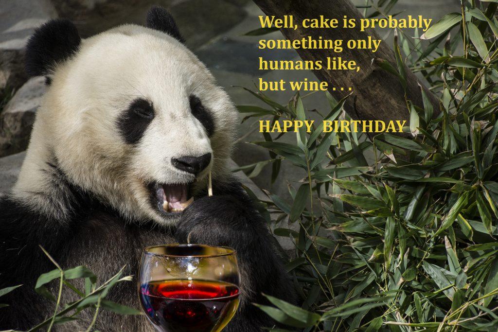 panda wine birthday